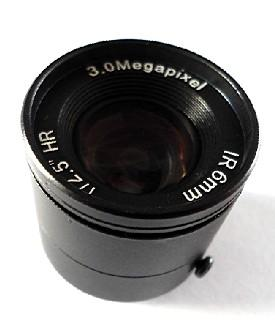 6.0mm F1.2 3Megapixel CS-mount Manual IRIS CCTV Lens
