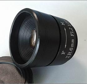 6.0mm F1.2 Megapixel CS-mounted Manual IRIS CCTV Lens