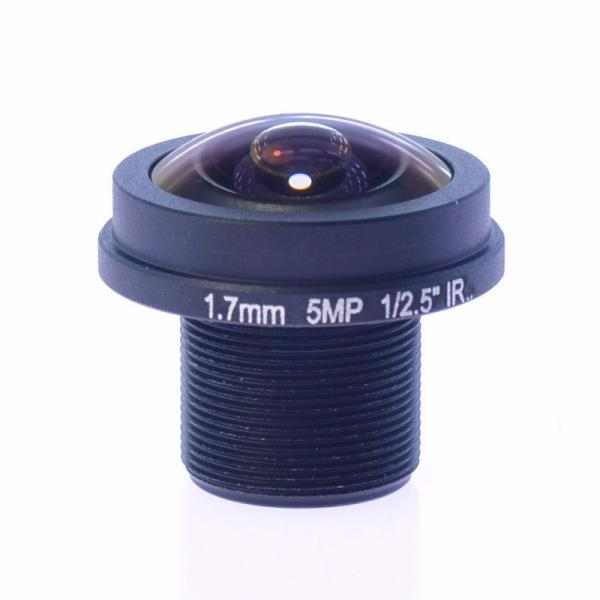 1.7mm 5Megapixel M12x0.5 Mount 185degrees IR Fisheye Lens