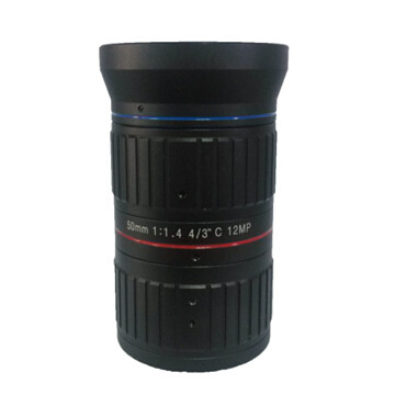 Low-distortion C-Mount Lens 50mm F1.4 12Megapixel for Traffic Monitoring
