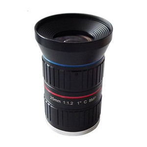 25mm F1.2 8Megapixel Low-distortion C-mount Lens for ITS Traffic Monitoring