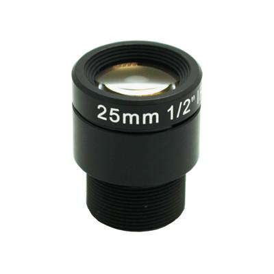 25mm 4Megapixel M12 mount F2.4 Low-distortion IR board lens cctv lens