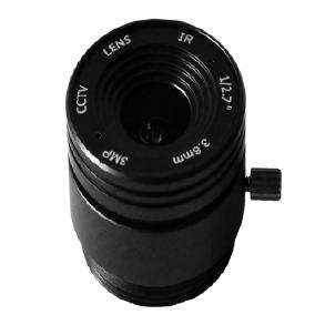 3.6mm F1.8 3Megapixel CS-mount Fixed IRIS IR CCTV Lens