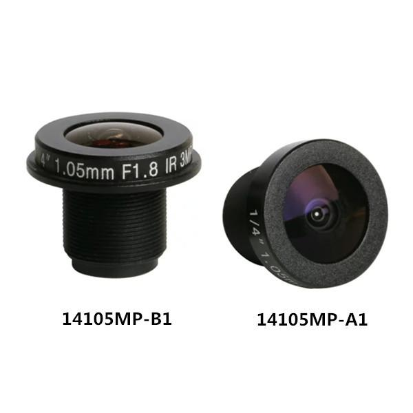 1.05mm 3Megapixel M12x0.5 Mount 185degrees IR Fisheye Lens