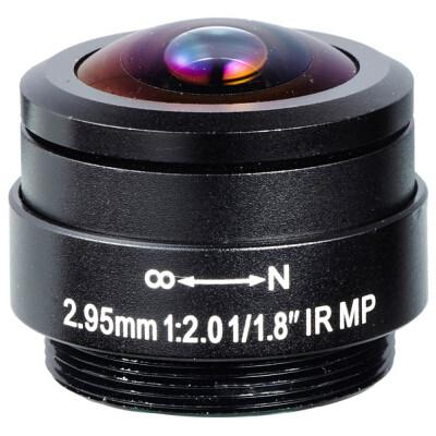 2.95mm Megapixel F2.0 CS mount 178degree wide-angle fisheye lens