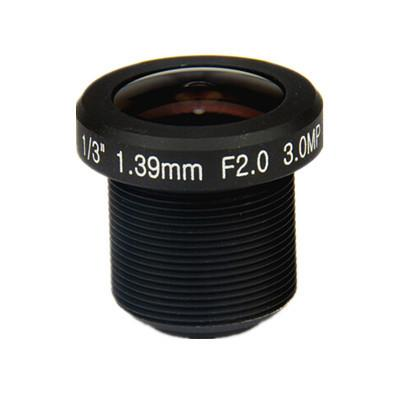 1.39mm 3Megapixel M12x0.5 Mount 185degrees IR Fisheye Lens